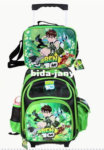 BEN 10 Children Trolley School Bags SET Waterproof Wheeled Backpack ...