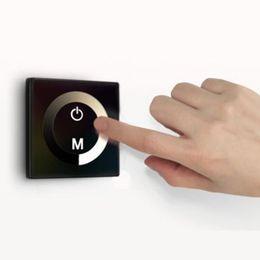 4PCS New Touch Panel Dimmer Controller For LED Light Strip Lamp Bulb DC 12V-24V 8A