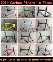 Wholesale 2014 Pinarello Dogma Carbon Road frame black white bike frames cycling Bicycle Frame seatpost clamp headset Gifts bottle cage