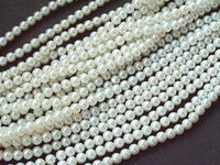Round loose faux pearls - 8MM White Glass Faux Pearl Loose Beads Fit European Bracelets DIY Jewelry Accessories