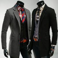 Men Dress Suit Corduroy 2013 Winter Men Long Design Slim Suit Jacket,Men's Trench Coat,Long Wind Jackets,overcoat Men,Windbreaker,Free Shipping,R1382