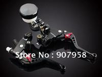 Wholesale New Universal Motorcycle Clutch Brake Master Cylinder Kit Reservoir Levers Set OEM