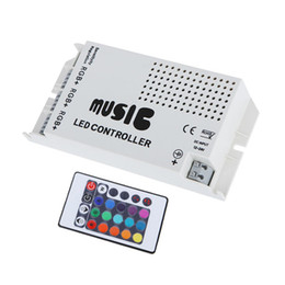 DC 12-24V 9A Sound Sensitive Music IR 24Keys Remote Controller For 5050 RGB LED Lights Strip