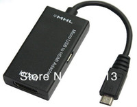 Wholesale Micro USB to HDMI TV MHL To HDMI Cable Adapter AV Cable For Tablets Note Samsung Galaxy Nexus New HTC