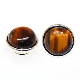 Wholesale Tiger Eye Jewelpop Fits Kameleon bracelet necklace ring silver plating for kameleon jewelpops IJP260