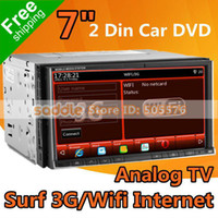 1 DIN Special In-Dash DVD Player 3.5 Inch Wholesale - 7 inch Universal 2 DIN CAR DVD Player with GPS Analog TV MP5 1080P iPod RDS Bluetooth WinCE 6.0 Office 3G Wifi FreeShipping!