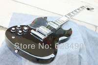 Red Solid Left-handed Wholesale - Custom Shop New Arrival SG Black Left Hand Electric Guitar High Quality Free Shipping
