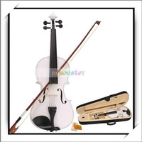 Wholesale New White Acoustic Violin Case Bow Rosin quot x quot x quot Violin Good and High Quality Y00272
