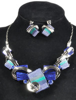 Wholesale 2014 New Fashion Jewelry Sets Gunmatel Plated Unique Design Party Gifts High Quality fashion jewelry sets