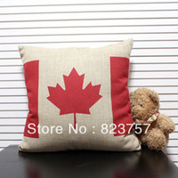 14'' Desktop 16:9 Wholesale - New arrived Canada style flag pillow office cushion kaozhen thick fluid free shipping 45x45cm