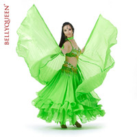 Belly Dancing stage prop - Belly dance silk wings wings monochrome color transparent wings belly dance belly dance stage props sent stick
