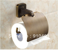 Paper Holders Yes Metal Free Shipping Wholesale And Retail Promotion Bathroom Toilet Antique Brass Wall Mounted Toilet Paper HolderBrass Toilet Roll
