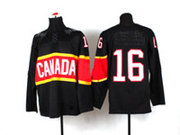 Ice Hockey Men Full Ice Hockey Jersey Team 2014 Sochi Winter Olympics Hockey Jersey Black 16 Toews embroidery logo Canada Sochi Olympic hockey Jersey