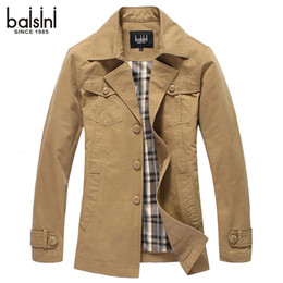 Wholesale Spring and autumn outerwear male casual cotton slim men s clothing jacket medium long turn down collar thin jacket male