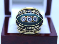 With Side Stones Bezel setting Brass Fans 1967 Super Bowl Packers Championship CZ Copper National Football League Cubic Zircon Champion Football Rings Size 10 11 12