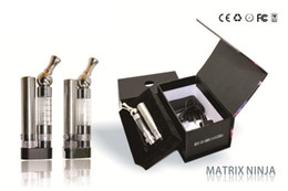 2014 New GS-Matrix Ninja Electronic cigarette Clearomizer with rotatable stainless drip tip e-cigarette with gift box pack