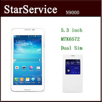 Wholesale New arrival Cheap Note3 NOTE N9000 inch Android MTK6572 Dual Sims card Smart Phone With Leather Case