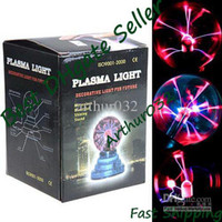 Wholesale Vogue Magic Plasma Crystal Desktop Ball Decoration USB Battery Dual Powered Touch Light Toy