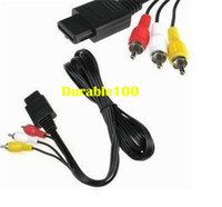 Wholesale Game AV TV Video Cord Cable for Nintendo N64 Game Cube Cable Nintendo NGC N64 SFC console to TV