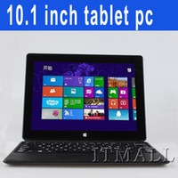 Wholesale 10 inch Windows Win8 surface Laptop Tablet PC keyboard case Intel Baytrail T Quad Core Bluetooth Wifi HDMI GB DDR3 GB Webcam notebook