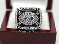 Wholesale Fans Oakland amp Raiders Copper Super Bowl National Football League Cubic Zircon Championship CZ Ring Size A