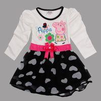 Nova 2014 latest Peppa pig clothes 18m- 6y cute baby girls dr...