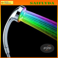 Wholesale Super Bright Automatic Colors Super Bright Automatic Colors LED Light Shower Head Home Bathroom Water Glowing
