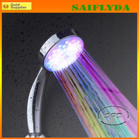 Wholesale 7COLOR LED SHOWER HEAD LIGHTS HOME WATER BATHROOM Shower heads