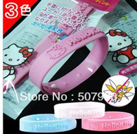 Stone Fashion Bangles Natural Cute Cat Mosquito Insect Bracelet Band Baby Writstband Repellent Anti Bracelet 50PCS LOT