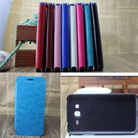 Wholesale crazy horse skin stand PU leather flip case cover skin shell for Samsung Galaxy Grand G7106 stand flip cover