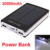Wholesale 30000mAh Solar Power Bank Backup Battery Charger for GPS PDA Mobile Phon Express
