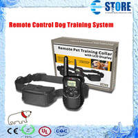 Wholesale Remote Control Dog Training System LV Shock Vibra Remote Electric Dog Training Collar wu