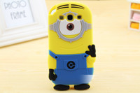 For Apple iPhone Silicone  Silicone Despicable Me 2 Minions Soft Case Cover for Apple iphone 4 4s iphone 5 5s 5c galaxy s3 i9300 s4 i9500 Note 2 n7100 Note 3 n9000 100