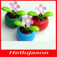 Wholesale 3108 for retail by China post On board sunflower solar swaying flowers solar doll shake pendulum apple sunflower forever