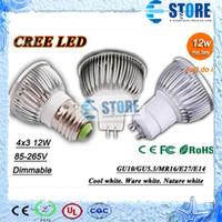 Wholesale X50 Retail High power CREE W x3W led lamp Dimmable GU10 MR16 E27 E14 B22 Led Light Lamps Spotlight led bulb lighting wu