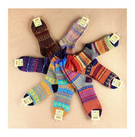Wholesale NEW Winter Fashion color Unisex Men Women retro hand knitting wool Socks knitted wool socks
