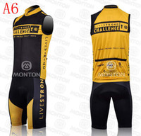 Wholesale best sale livestrong cycling jerseys challenge yellow and black sleeveless bib cycling clothing good quality