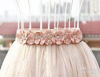 Wholesale Girls Dresses Belts Rhinestone Flower Belts Decoration