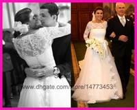 Ball Gown Model Pictures Scoop 2014 Elegant Real Long Sleeve Lace Ball Gown Bridal Wedding Dress Vestido De Noiva W2807