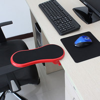 Wholesale Desk attachable Computer arm support Good Quanlity mouse pad Red Restmans Mini arm Rest ABS Material
