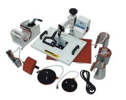 110V,220V Plate Mug Cap TShirt heat press,heat transfer machine,Sublimation machine,mini digital 8 In 1 Combo Heat Press Machine