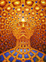 One Panel animal posters - Trippy Alex Grey Art Paiting x24 Poster