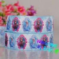 Wholesale 10yards quot mm Frozen princess series printed gift ribbon cartoon DIY gift grosgrain ribbon