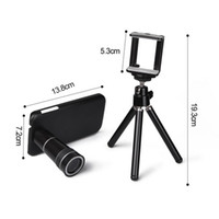 Wholesale 10X Zoom Telescope Camera lens kits magnifier with tripod back case for samsung Galaxy S3 i9300 S4
