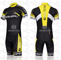 Wholesale 2014 Newest GARNEAU Cycling Jersey Sets Breathable Quick Dry Close fitting Bicycle Clothings Men Summer Cool Fashion Wear