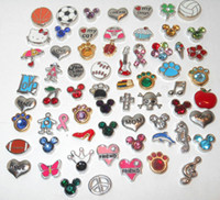 Wholesale Floating Glass Locket Memory Charm Charms Mixed Styles