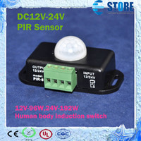 Wholesale 12VDC W VDC W A Channel Human body induction switch PIR Sensor Switch for led light M