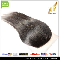 Brazilian Hair Natural Color Straight Top Quality Silk Base Closure 100% Unprocessed Brazilian Virgin Hair Human Hair Natural Color 4*4 Soft Silky Straight