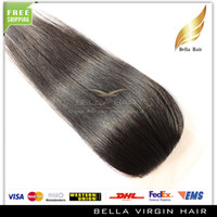 Brazilian Hair Straight straight Brazilian Virgin Human Hair Silk Base Closure 3.5*4 Natural Color Silky Straight High Quality DHL Free Shipping
