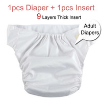 Breathable adult diapers - Adjustable Adult Diapers Adult Nappies Cloth Diapers Incontinence Diapers Pants Layers Insert Diaper Insert AD